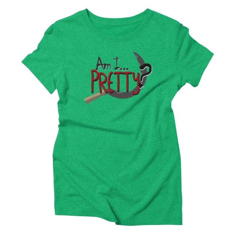 Am I pretty? Women's Triblend T-Shirt by Kowabana's Artist Shop