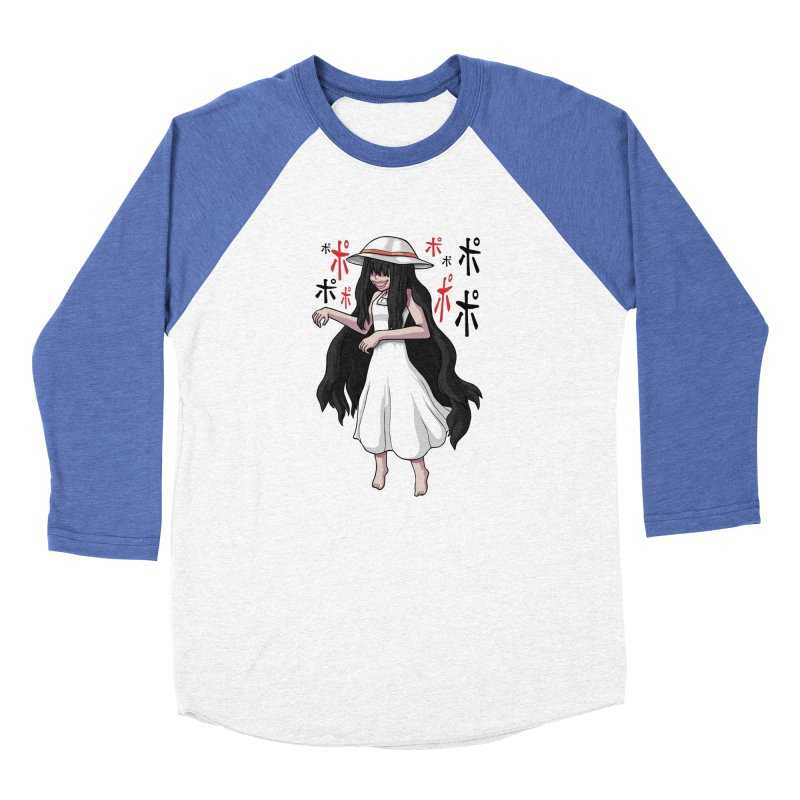 Hasshaku-sama Men's Baseball Triblend Longsleeve T-Shirt by Kowabana's Artist Shop