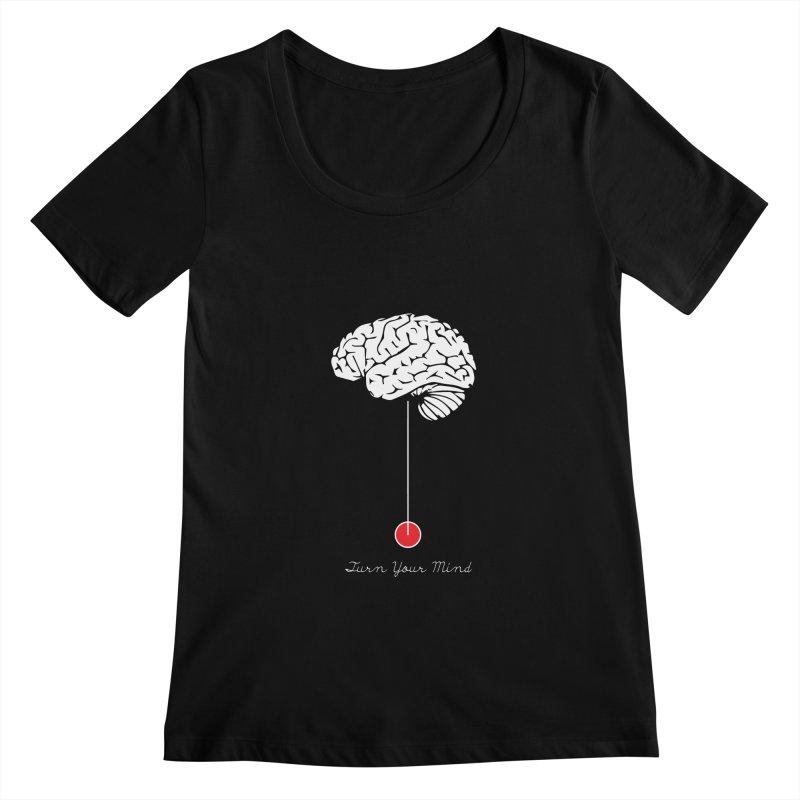 Turn Your Mind Women's Scoopneck by krabStore