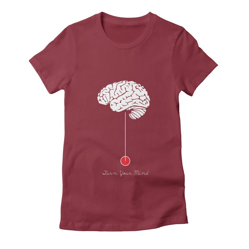 Turn Your Mind Women's Fitted T-Shirt by krabStore