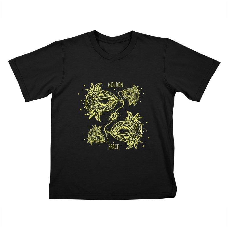 GoldanSpace Kids T-shirt by krabStore
