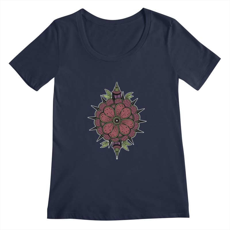 Gordon'sFlower Women's Scoopneck by krabStore