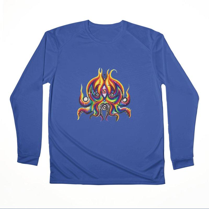OktoSkull Women's Performance Unisex Longsleeve T-Shirt by Krakens Lair's Artist Shop