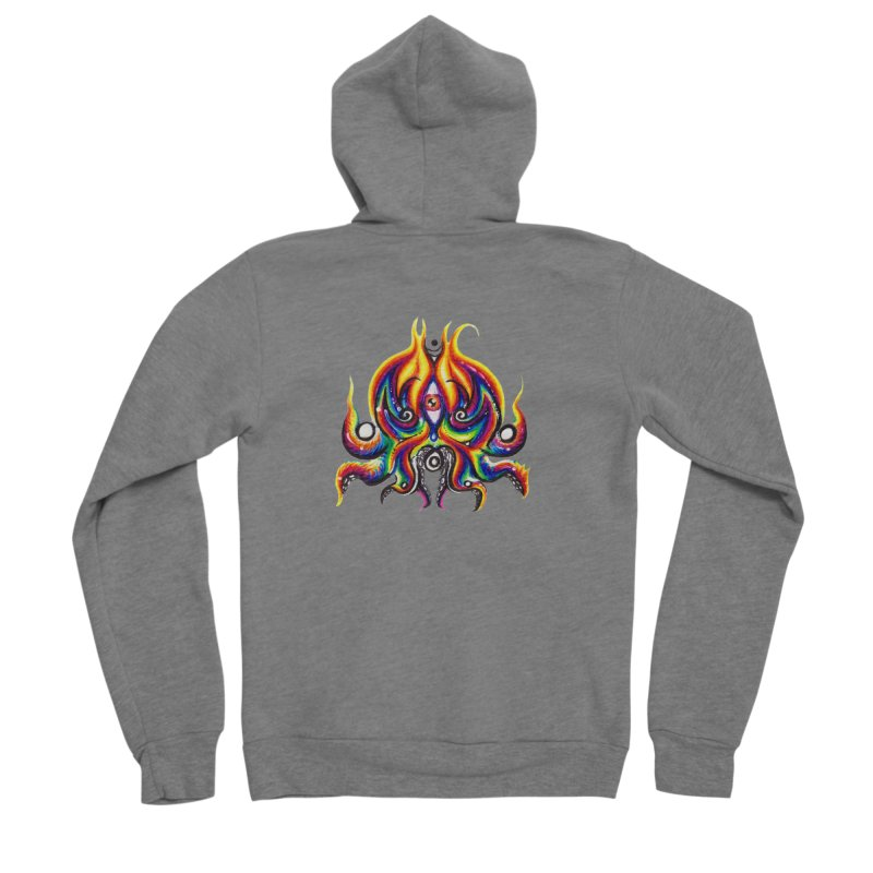 OktoSkull Men's Sponge Fleece Zip-Up Hoody by Krakens Lair's Artist Shop