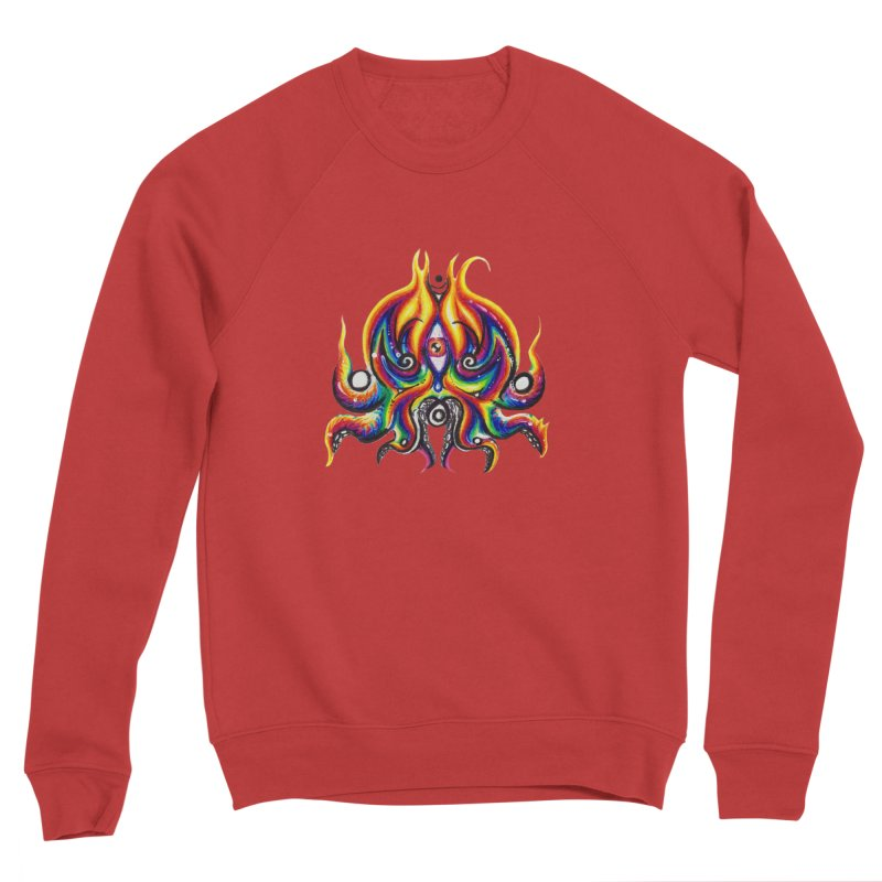 OktoSkull Men's Sponge Fleece Sweatshirt by Krakens Lair's Artist Shop