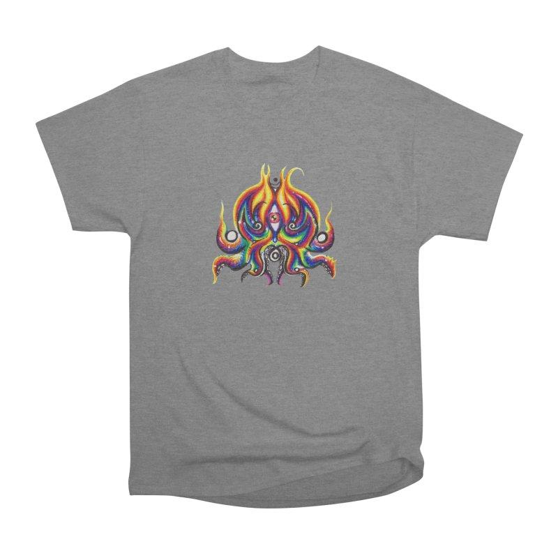 OktoSkull Women's Heavyweight Unisex T-Shirt by Krakens Lair's Artist Shop