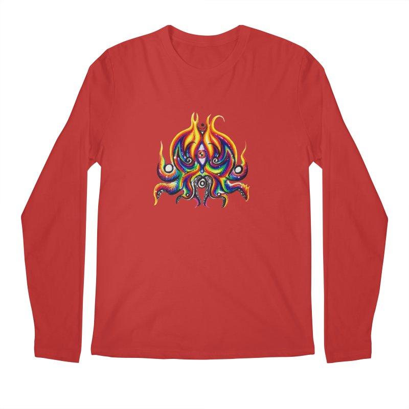 OktoSkull Men's Regular Longsleeve T-Shirt by Krakens Lair's Artist Shop