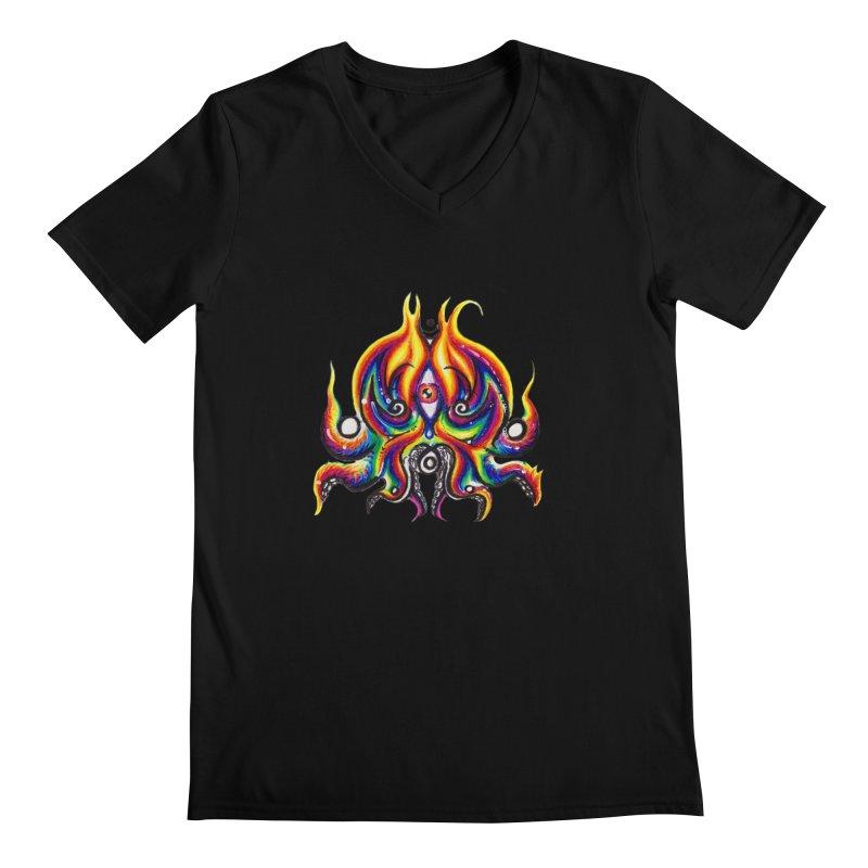 OktoSkull Men's Regular V-Neck by Krakens Lair's Artist Shop