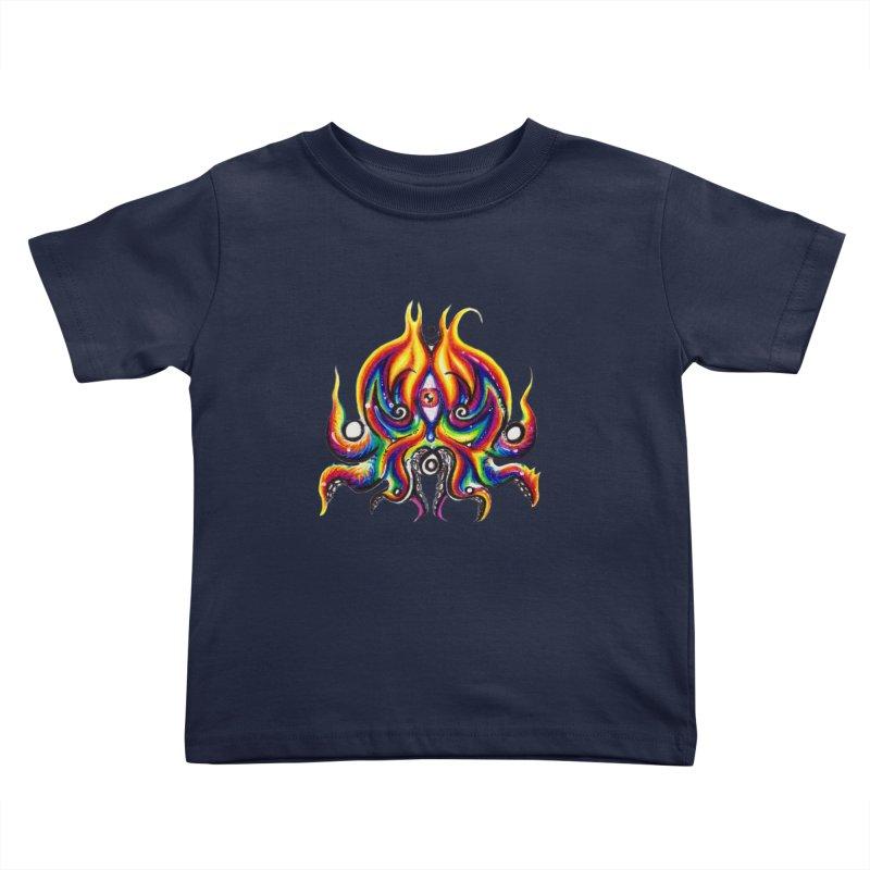 OktoSkull Kids Toddler T-Shirt by Krakens Lair's Artist Shop