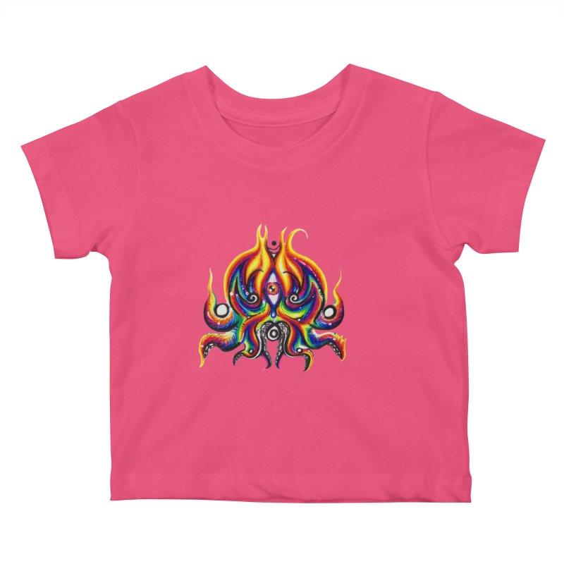 OktoSkull Kids Baby T-Shirt by Krakens Lair's Artist Shop
