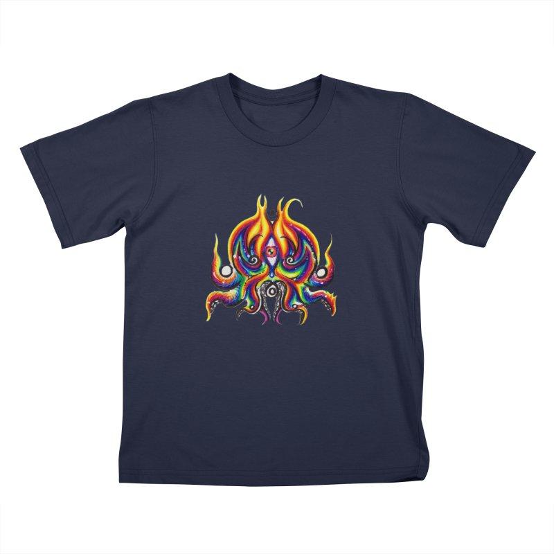 OktoSkull Kids T-Shirt by Krakens Lair's Artist Shop