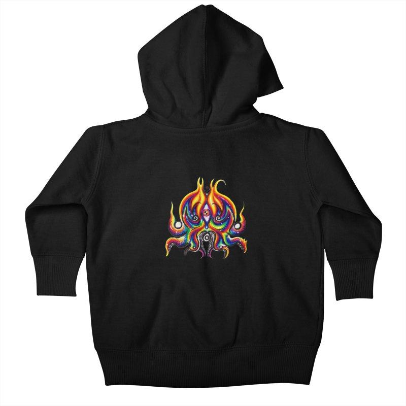 OktoSkull Kids Baby Zip-Up Hoody by Krakens Lair's Artist Shop