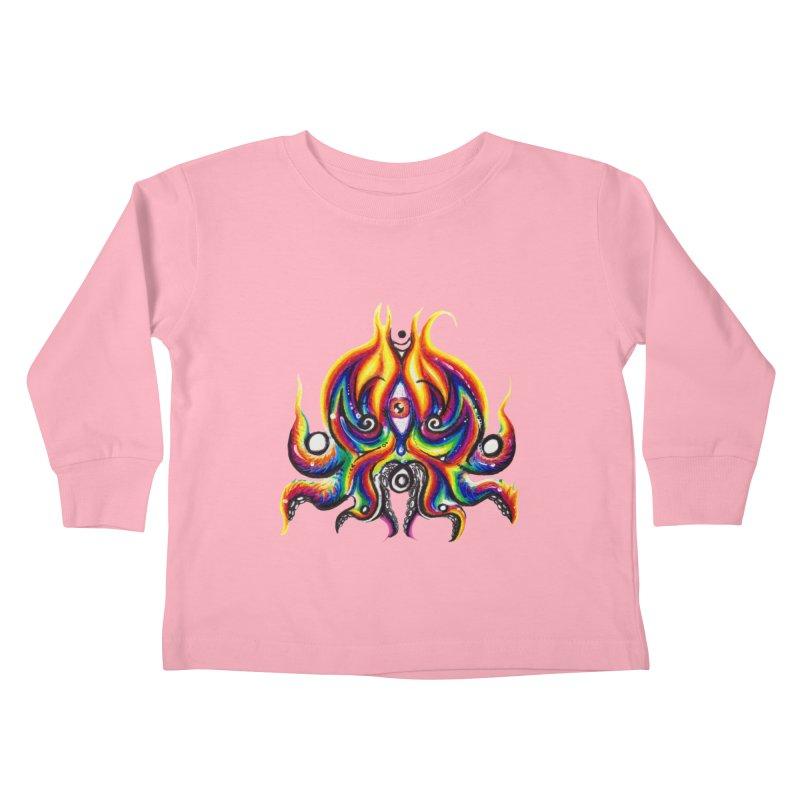 OktoSkull Kids Toddler Longsleeve T-Shirt by Krakens Lair's Artist Shop