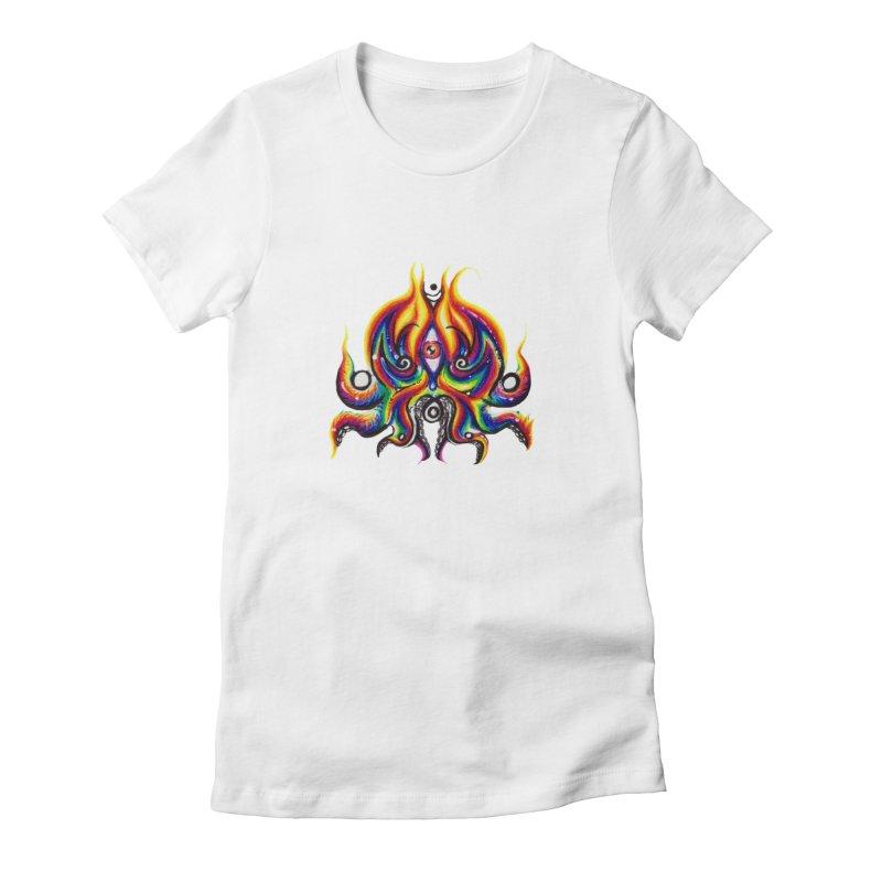 OktoSkull Women's Fitted T-Shirt by Krakens Lair's Artist Shop