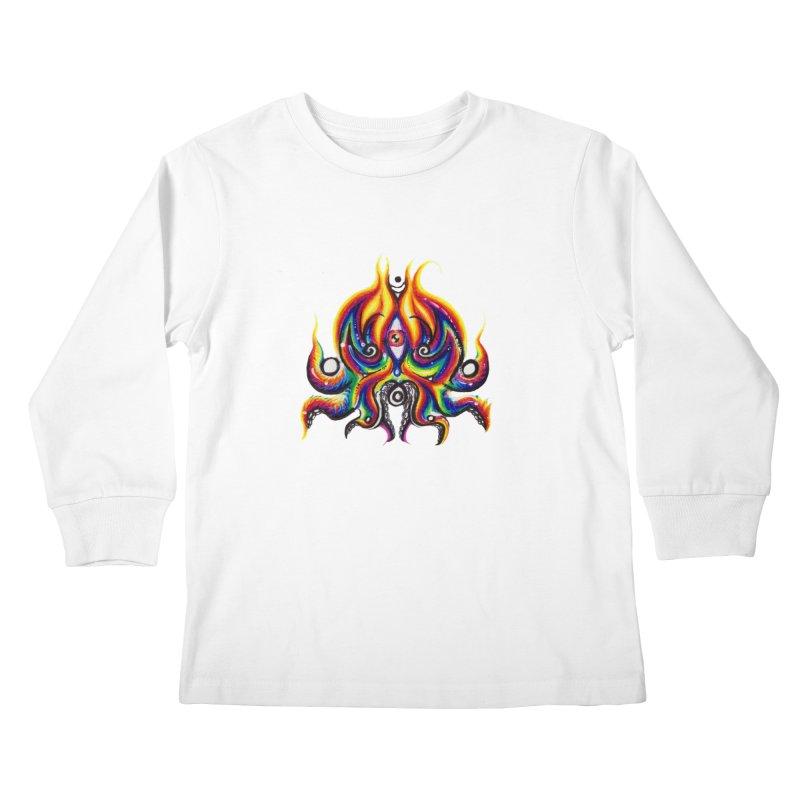 OktoSkull Kids Longsleeve T-Shirt by Krakens Lair's Artist Shop