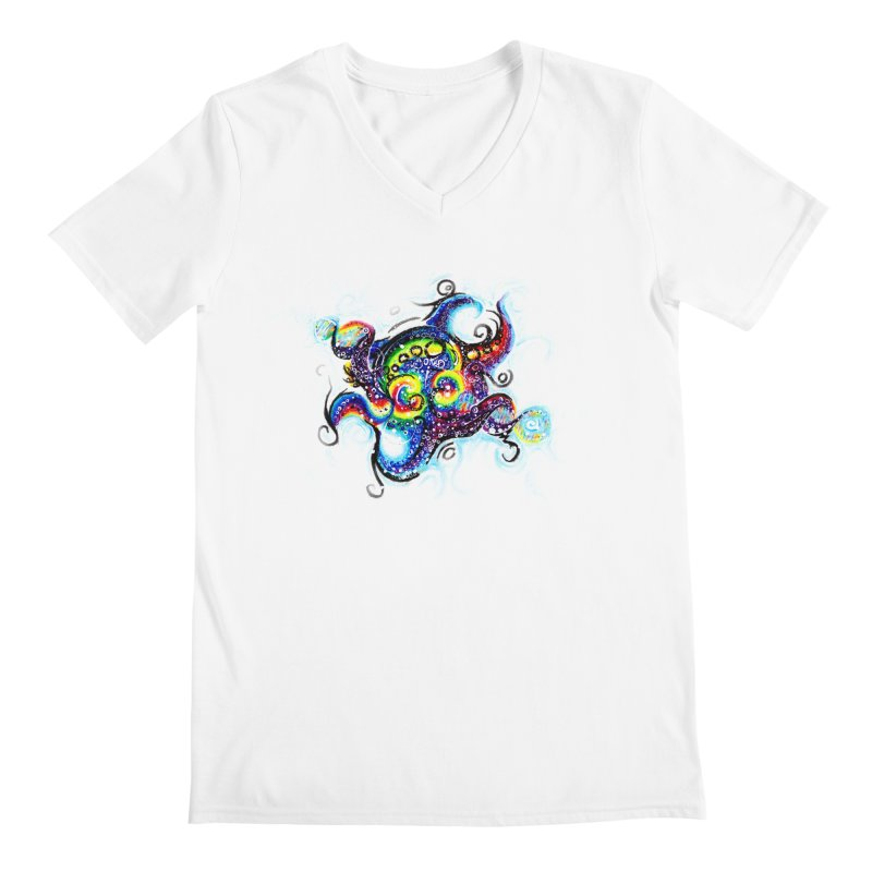 DNAoctopus Men's Regular V-Neck by Krakens Lair's Artist Shop