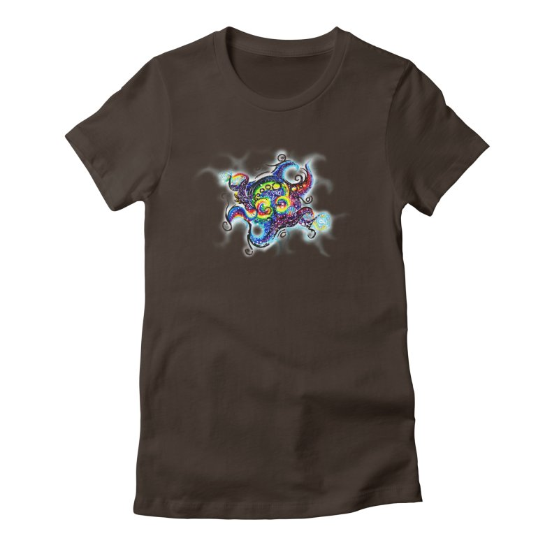 DNAoctopus Women's Fitted T-Shirt by Krakens Lair's Artist Shop