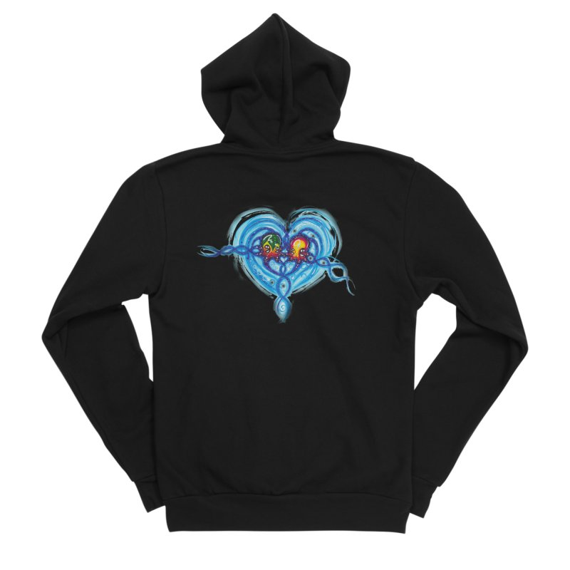 soulMates2 Men's Sponge Fleece Zip-Up Hoody by Krakens Lair's Artist Shop