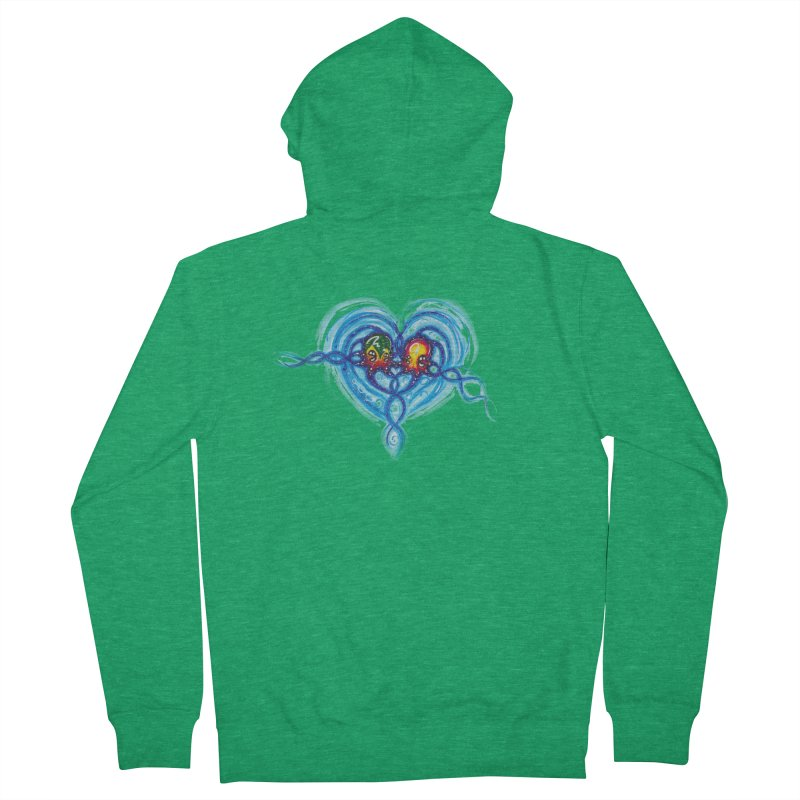 soulMates2 Women's French Terry Zip-Up Hoody by Krakens Lair's Artist Shop