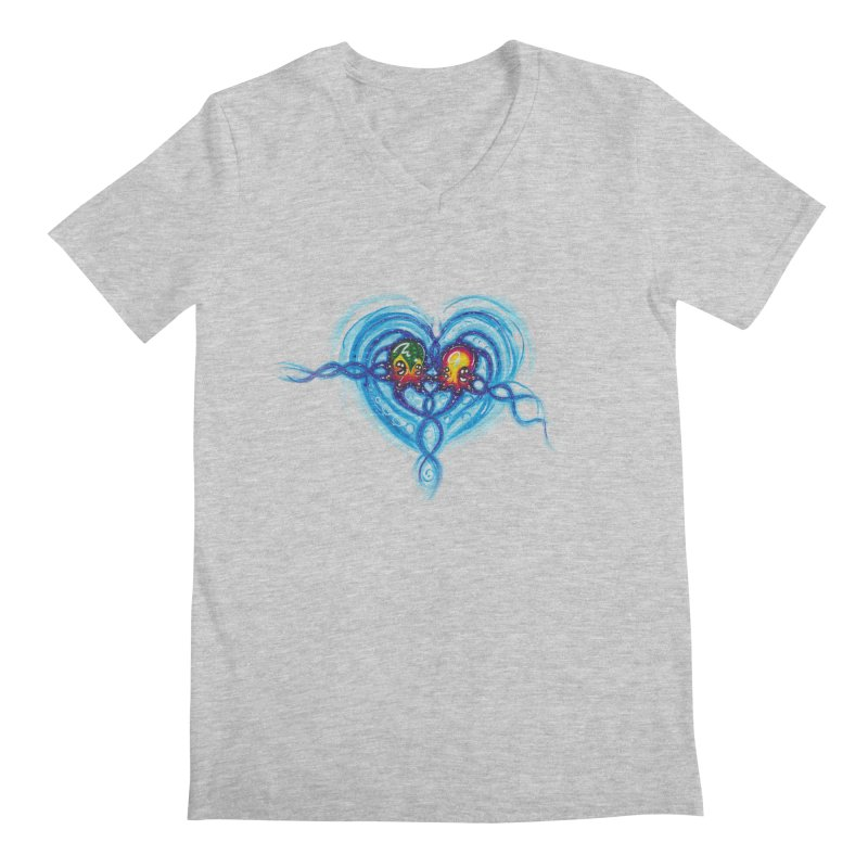 soulMates2 Men's Regular V-Neck by Krakens Lair's Artist Shop