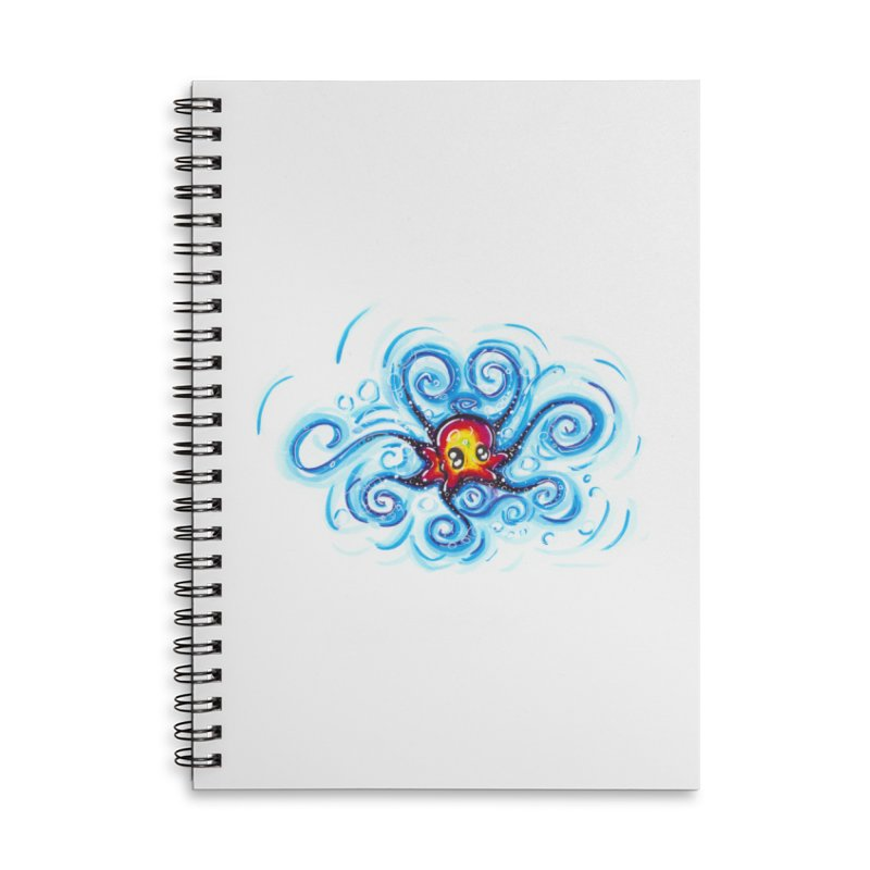 tinyOctopus Accessories Lined Spiral Notebook by Krakens Lair's Artist Shop