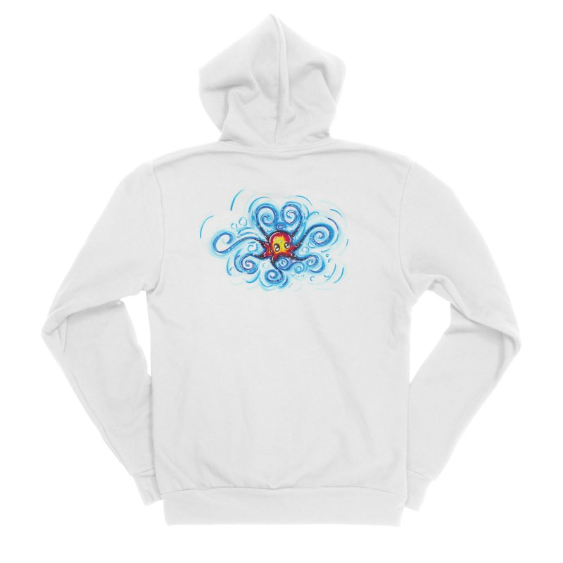 tinyOctopus Men's Sponge Fleece Zip-Up Hoody by Krakens Lair's Artist Shop