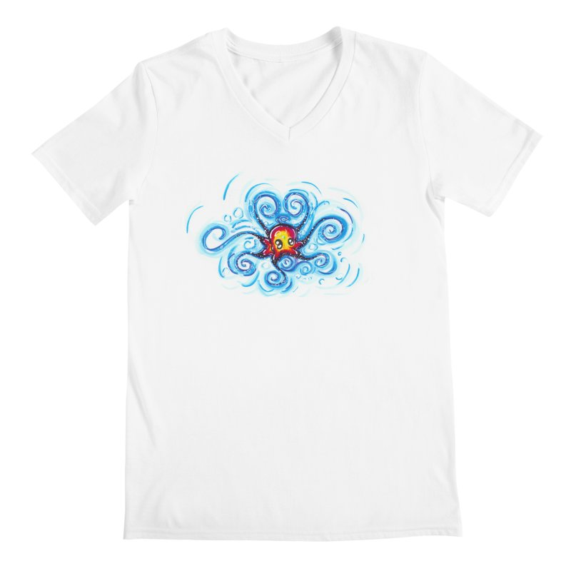tinyOctopus Men's Regular V-Neck by Krakens Lair's Artist Shop