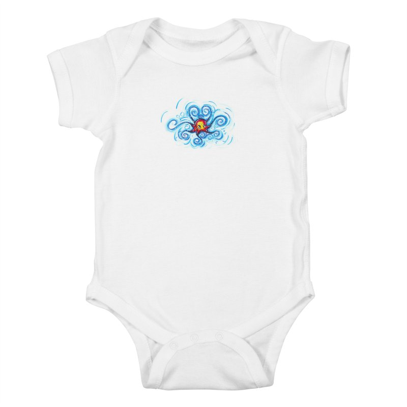 tinyOctopus Kids Baby Bodysuit by Krakens Lair's Artist Shop
