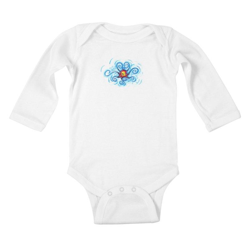 tinyOctopus Kids Baby Longsleeve Bodysuit by Krakens Lair's Artist Shop