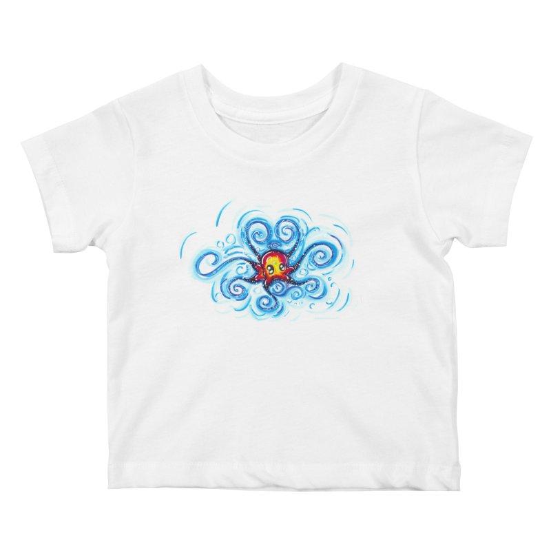 tinyOctopus Kids Baby T-Shirt by Krakens Lair's Artist Shop