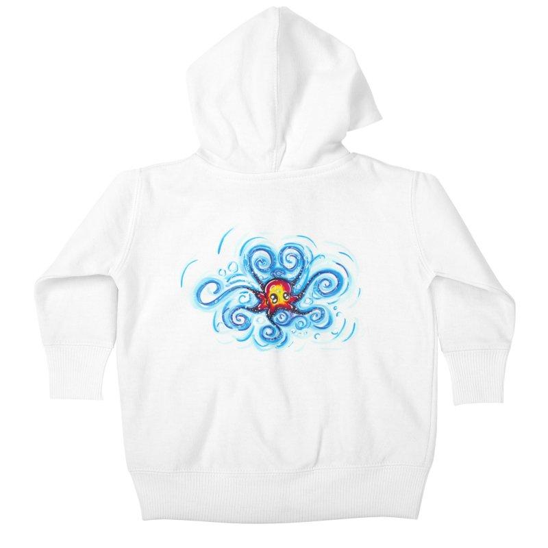 tinyOctopus Kids Baby Zip-Up Hoody by Krakens Lair's Artist Shop