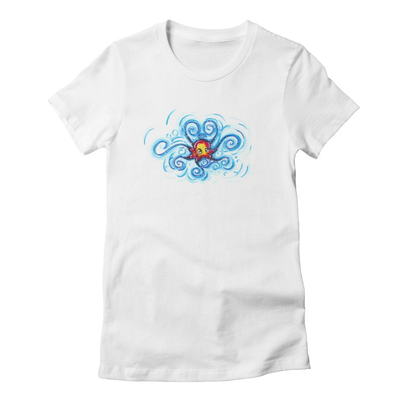 tinyOctopus Women's Fitted T-Shirt by Krakens Lair's Artist Shop