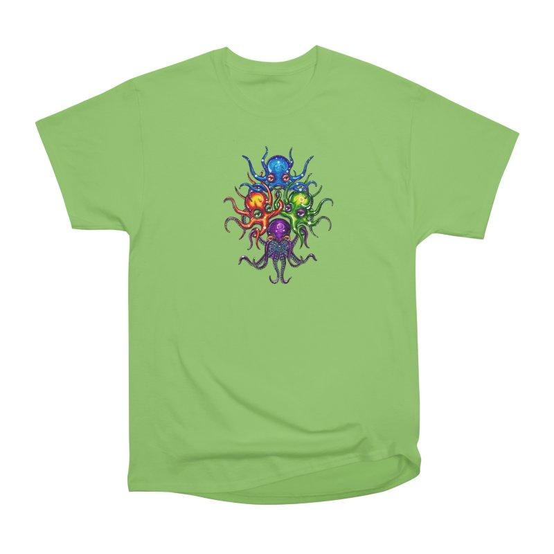 octoTeam Women's Heavyweight Unisex T-Shirt by Krakens Lair's Artist Shop