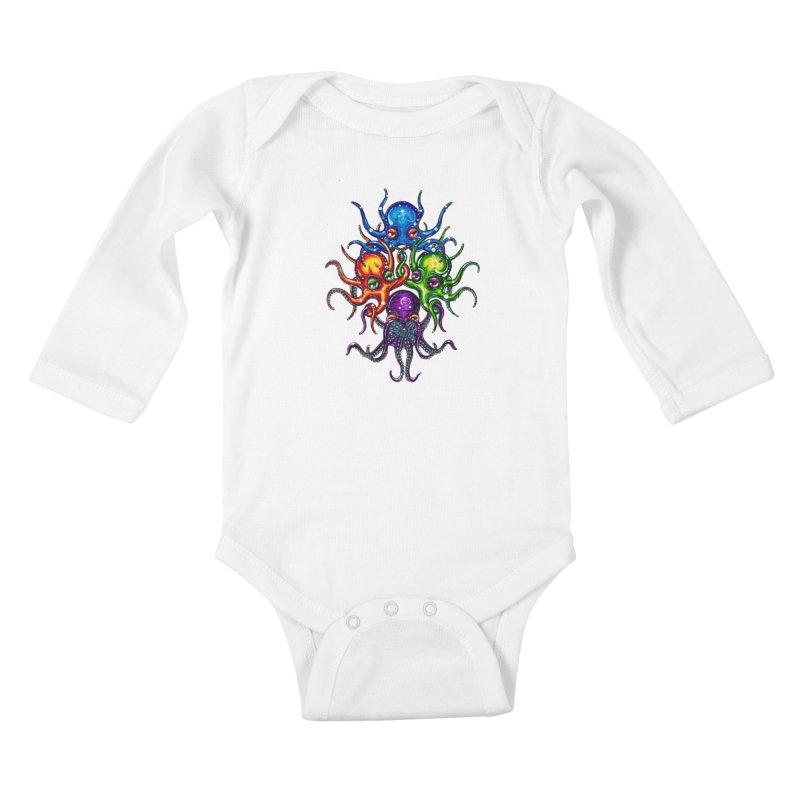 octoTeam Kids Baby Longsleeve Bodysuit by Krakens Lair's Artist Shop