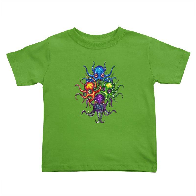 octoTeam Kids Toddler T-Shirt by Krakens Lair's Artist Shop