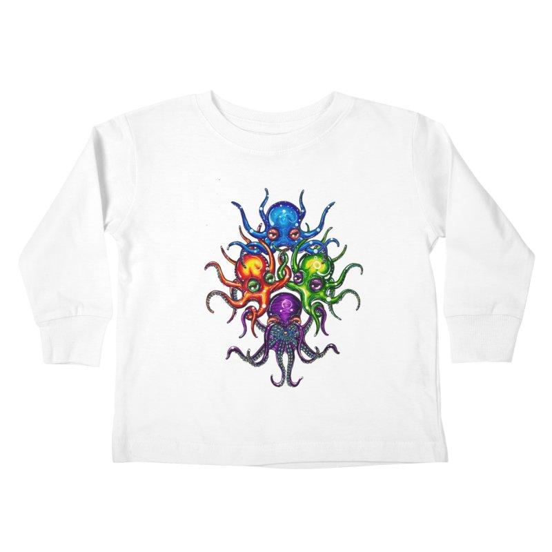 octoTeam Kids Toddler Longsleeve T-Shirt by Krakens Lair's Artist Shop