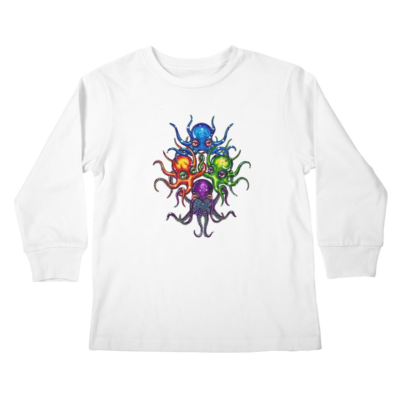octoTeam Kids Longsleeve T-Shirt by Krakens Lair's Artist Shop