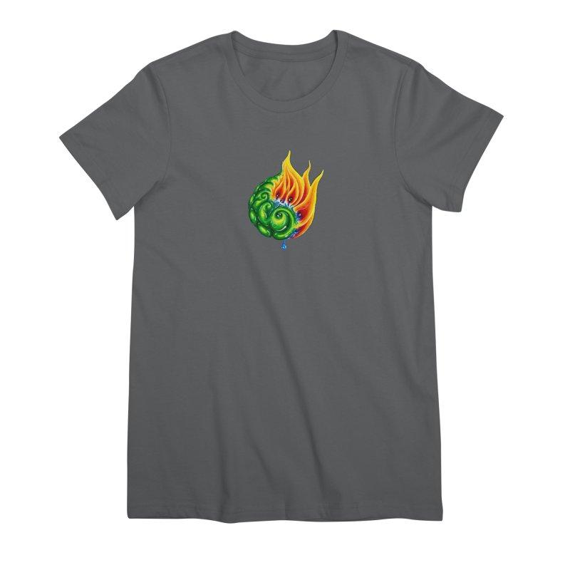 foxFire(fire&leaf3) Women's Premium T-Shirt by Krakens Lair's Artist Shop
