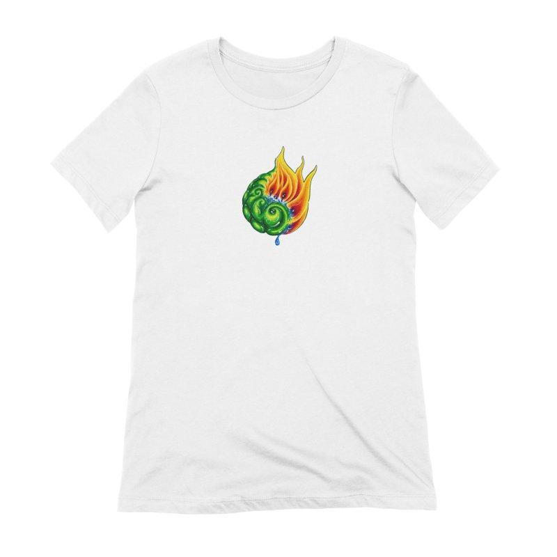 foxFire(fire&leaf3) Women's Extra Soft T-Shirt by Krakens Lair's Artist Shop
