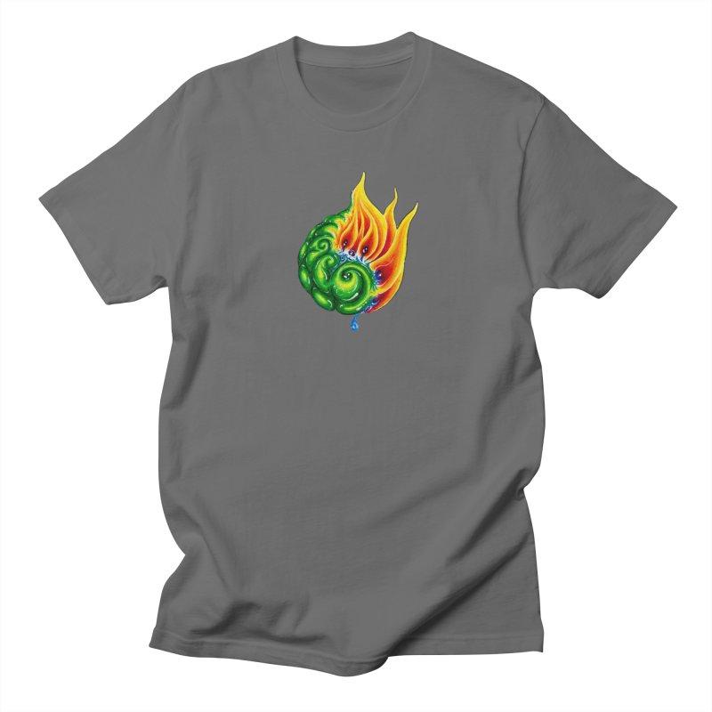 foxFire(fire&leaf3) Men's T-Shirt by Krakens Lair's Artist Shop