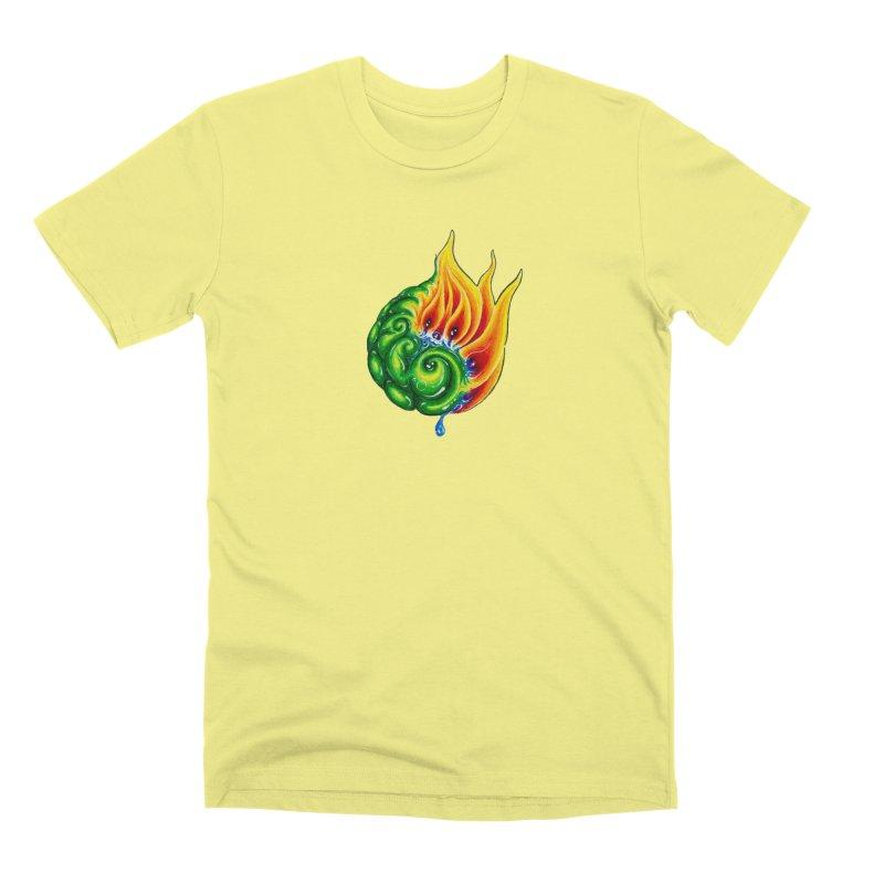 foxFire(fire&leaf3) Men's Premium T-Shirt by Krakens Lair's Artist Shop
