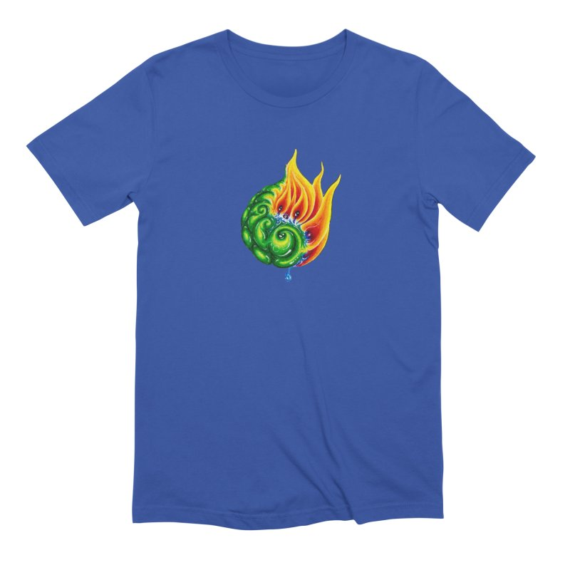 foxFire(fire&leaf3) Men's Extra Soft T-Shirt by Krakens Lair's Artist Shop