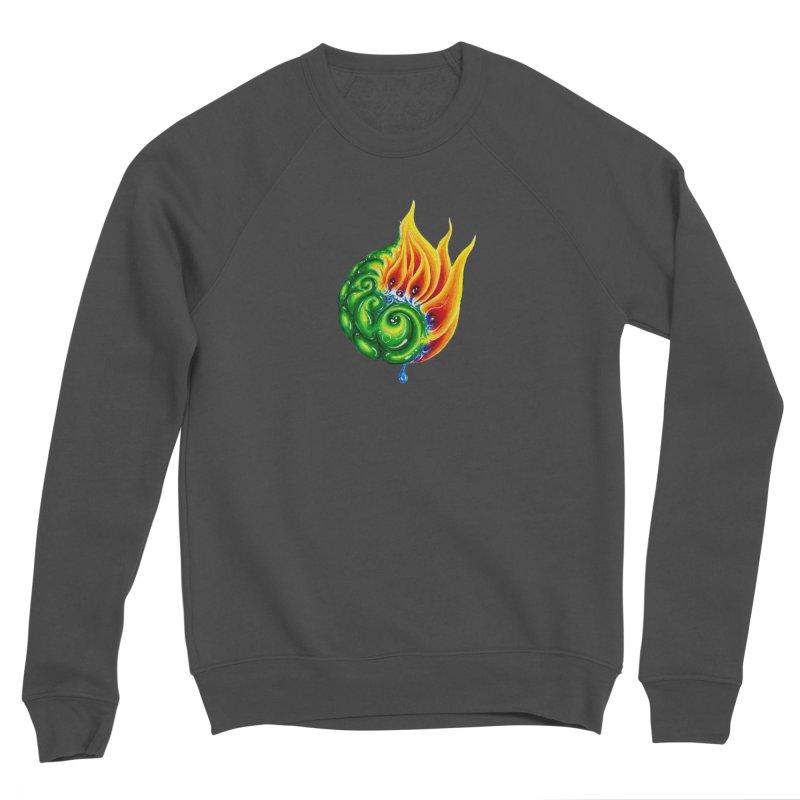 foxFire(fire&leaf3) Women's Sponge Fleece Sweatshirt by Krakens Lair's Artist Shop