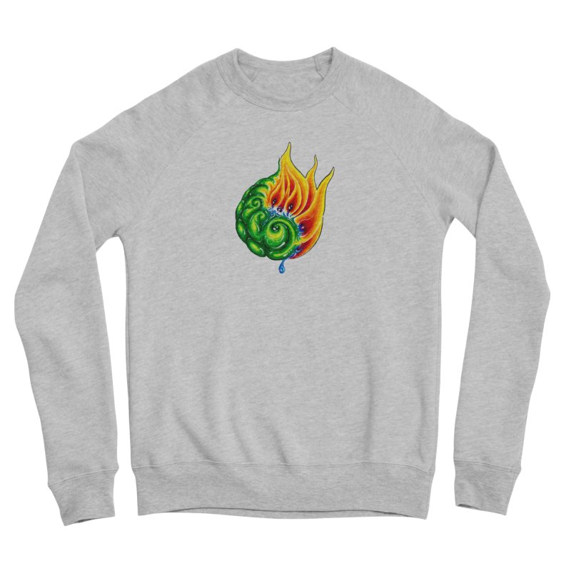 foxFire(fire&leaf3) Men's Sponge Fleece Sweatshirt by Krakens Lair's Artist Shop