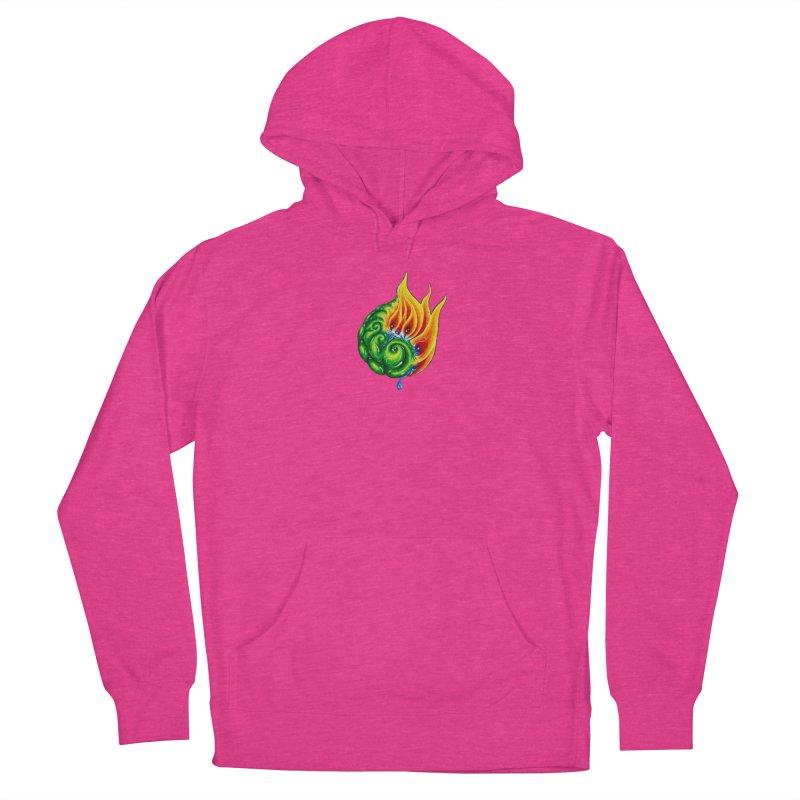 foxFire(fire&leaf3) Men's French Terry Pullover Hoody by Krakens Lair's Artist Shop