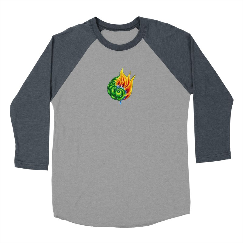 foxFire(fire&leaf3) Men's Baseball Triblend Longsleeve T-Shirt by Krakens Lair's Artist Shop