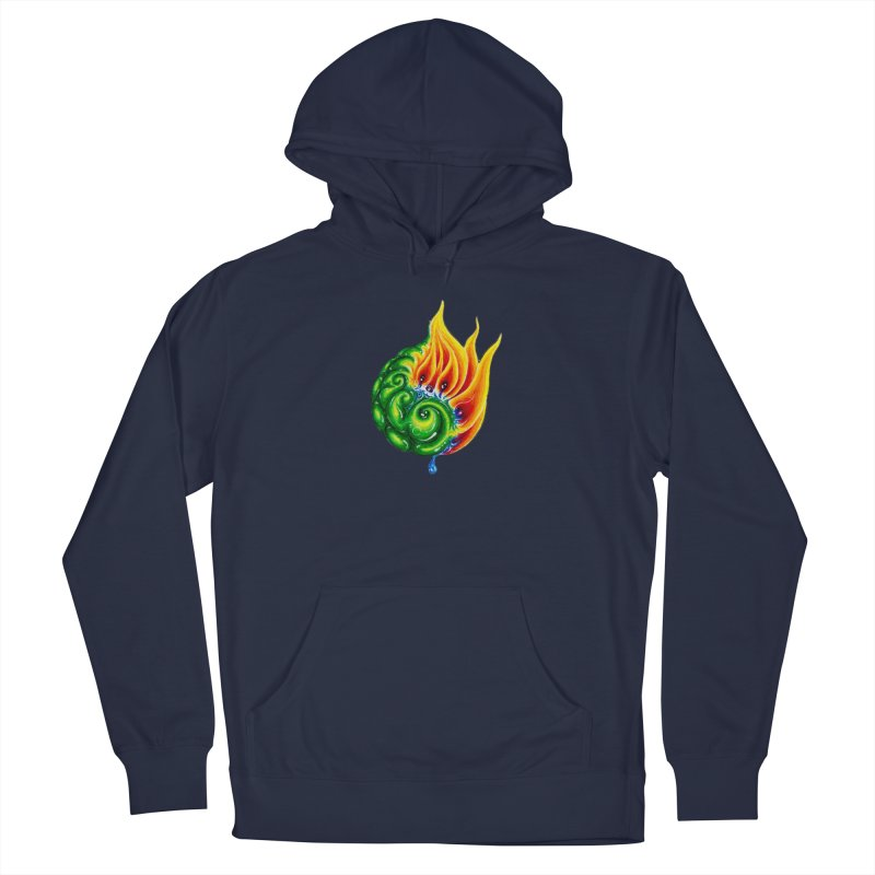 foxFire(fire&leaf3) Women's French Terry Pullover Hoody by Krakens Lair's Artist Shop