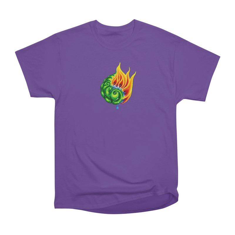foxFire(fire&leaf3) Women's Heavyweight Unisex T-Shirt by Krakens Lair's Artist Shop