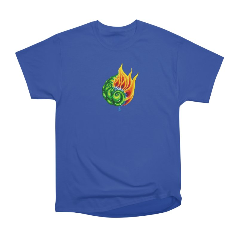 foxFire(fire&leaf3) Men's Heavyweight T-Shirt by Krakens Lair's Artist Shop