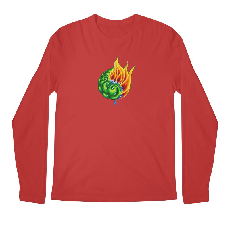 foxFire(fire&leaf3) Men's Regular Longsleeve T-Shirt by Krakens Lair's Artist Shop